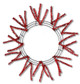 Pencil Work Wreath - Metallic Red (XX751124)