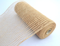 "10"" Natural Poly Jute Mesh - Thin"