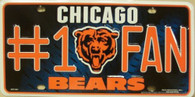 Chicago Bears Fan NFL Metal License Plate