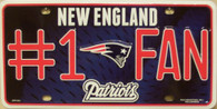 New England Patriots NFL Fan Metal License Plate