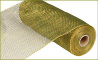"10"" Deco Poly Mesh: Two Tone Moss Green/Gold"