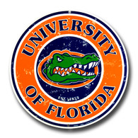 University of Florida Gators Embossed Metal Circular Sign