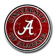 University of Alabama Embossed Metal Circular Sign