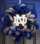 Navy Blue Mesh used in this Notre Dame Deco Mesh Wreath