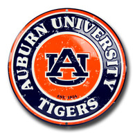 University of Auburn Embossed Metal Circular Sign