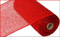 "10"" x 10yds Poly Burlap Mesh: Red"
