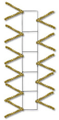 "22"" Wire Work Pencil Rail Form: Metallic Gold"