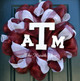 Metallic Burgundy with Red Foil used in this Texas A and M Deco Mesh Wreath