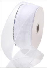 Deco Mesh Ribbon - White (RS200027)