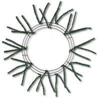 10 20 small pencil work wreath form natural green - Wire Wreath Frame With Ties