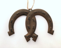 Rustic Tin Horseshoe Ornament