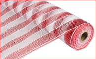 "Deco Mesh - Stripe - Red and White - 21"" X 10Yd (RE1016C4)"