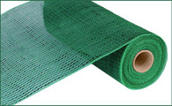"10"" Deco Poly Mesh: Metallic Emerald Green with Wide Emerald Foil"