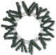 Work Wreath - Green - 15 inch Wire - 25 inch OAD (XX748709)