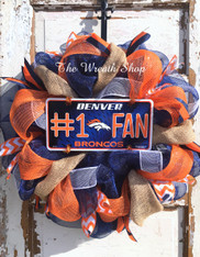 Denver Broncos Wreath - Mesh and Burlap