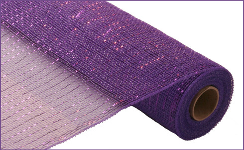Deco Mesh - Purple Metallic - Purple with Purple Foil (RE100123)