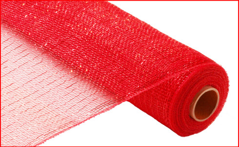 Deco Mesh - Deluxe Metallic - Red with Red Foil (RE100124)