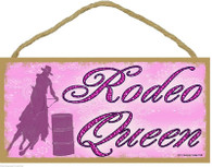 Pink Rodeo Queen Wooden Sign