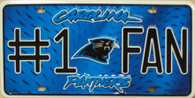 Carolina Panthers #1 Fan NFL Embossed Metal License Plate