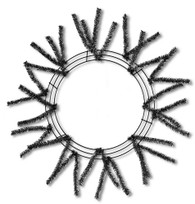 Metallic Black Pencil Work Wreath (XX751102)