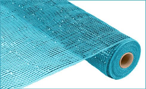 Deco Mesh - Deluxe Turquoise WIDE Metallic Turquoise Foil (RE104144)