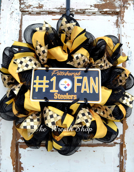 Pittsburgh Steelers Deco Mesh Wreath