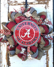 University of Alabama Burlap Wreath