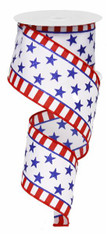 "2.5"" Stars and Stripes Border Ribbon - 10Yds"