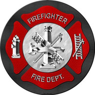 Firefighter Metal Circular Sign