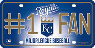 Kansas City Royals Fan MLB Embossed Metal License Plate