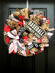 Baseball Spoken Here Wreath