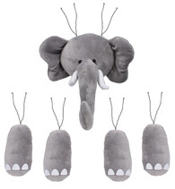 Plush Elephant Wreath Kit