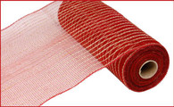 "10.5"" Poly Jute Mesh: Dark Red"