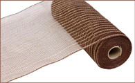 "10.5"" Poly Jute Mesh: Chocolate Brown"
