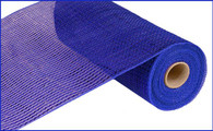 "10"" Deco Poly Mesh: Wide Metallic Foil Royal Blue"