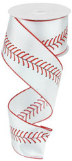 "2.5"" Baseball Stitching Ribbon - 100ft"