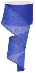 "Royal Blue Cross Royal Burlap Ribbon - 2.5"" x 10Yd"
