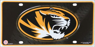Missouri Tigers Mizzou Embossed Metal License Plate