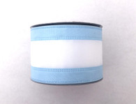 "2.5"" Light Blue/White Stripe Ribbon - 10Yds"