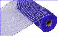"10.5"" Poly Jute Mesh: Royal Blue/Natural"