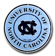 Univesity of North Carolina Tarheels Metal Circular Sign