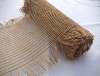 "10"" Dark Natural Frayed Burlap Mesh"