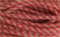 Faux Jute Flex Tubing: Red/Wht Stripe - 8mm X 30Yds