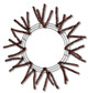 Pencil Work Wreath - Metallic Chocolate (XX751140)