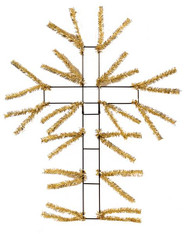"20"" Pencil Work Cross Form: Metallic Gold"