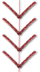 9' Pencil Work Garland: Metallic Red