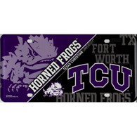 TCU Horned Frogs Metal License Plate