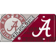 University of Alabama Crimson Tide Metal License Plate