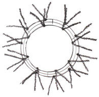 "20-30"" Pencil Work Wreath Form: Metallic Black"
