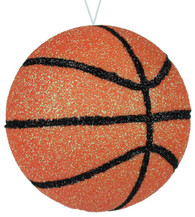 "3.5"" Glitter Basketball Ornament"